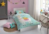 Dekbedovertrek kinderbed Good Morning Kids dieren dekbedovertrek Lama Mint mintgroen - 140 x 200/220 cm. Deze grappige lama als