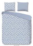 Good Morning dekbedovertrek Dot is een mooi dekbed overtrek blauw met een print van stippen. Eenpersoons dekbedovertrek. 100% k