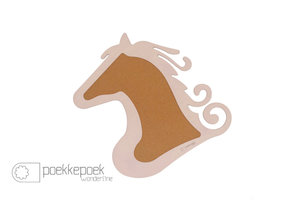 Dierenkop prikbord paard licht roze