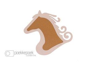 Prikbord paard licht roze