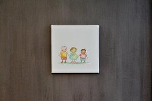 Rube & Rutje best friends forever tekening 30 x 30 x 1.5cm