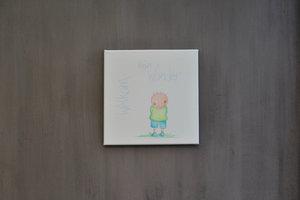 Rube & Rutje canvas - Rube :  welkom klein wonder