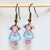Rube & Rutje oorbelletjes meisjes blauw roze.