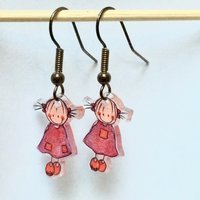 Rube & Rutje oorbelletjes twee roze meisjes