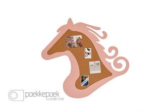 Prikbord paard roze