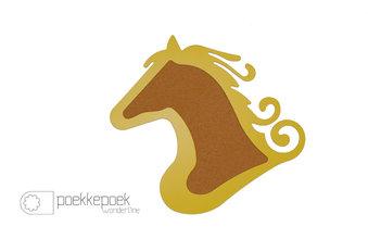 Prikbord paard geel