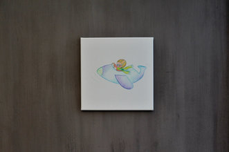 Rube & Rutje canvas schilderij vliegtuig