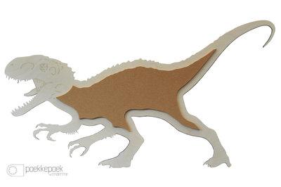 Dino prikbord voor je kinderkamer muur. Heb je deze indominus rex gezien in Expo Dino World in Brussel (Heizel)? Houten decorat