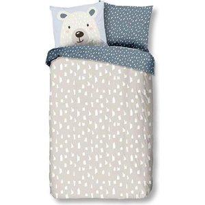 50% solden Ijsbeer dekbedovertrek is een leuke aanvulling voor de slaapkamer! Je kan deze dekbedovertrek draaien van lichtgrijs