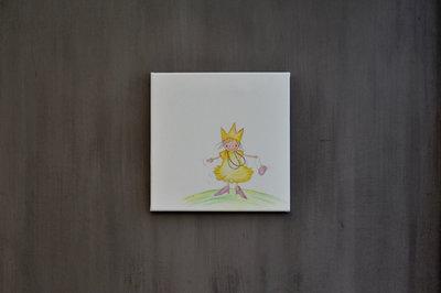 Rube & Rutje canvas - Rutje verkleed als princes.
