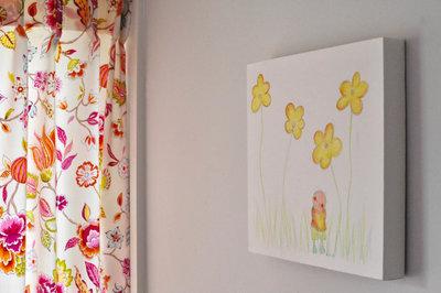 Kinderkamer decoratie schilderijtje van Rube & Rutje. Leuk schilderij als muurdecoratie voor in je jongens slaapkamer.