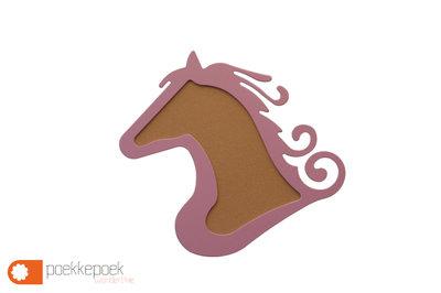 Groot houten paarden prikbord voor je kind haar of zijn kinderkamer muur. Functioneel dierenkop silhouette kurk prikbord paard