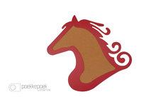 Origineel prikbord 'paard' kopen rode kinderkamer decoratie. Prikbord in de vorm van een paardenkop/dierenkop als
