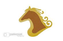 Prikbord paard geel voor kinderen.