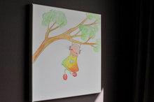 Rube & Rutje canvas - Rutje klimt in een boom.